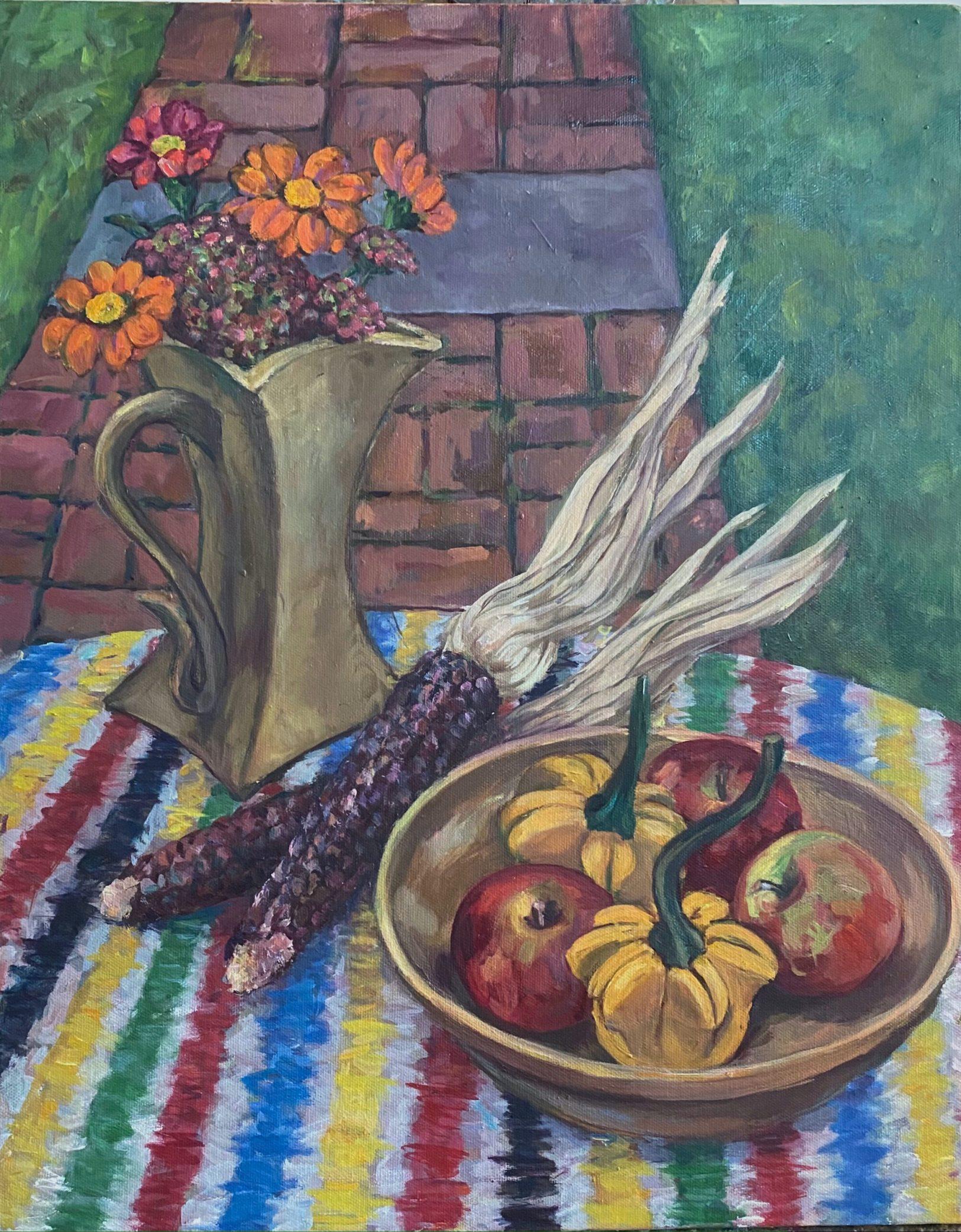 Early Autumn Still Life, oil on canvas, 20